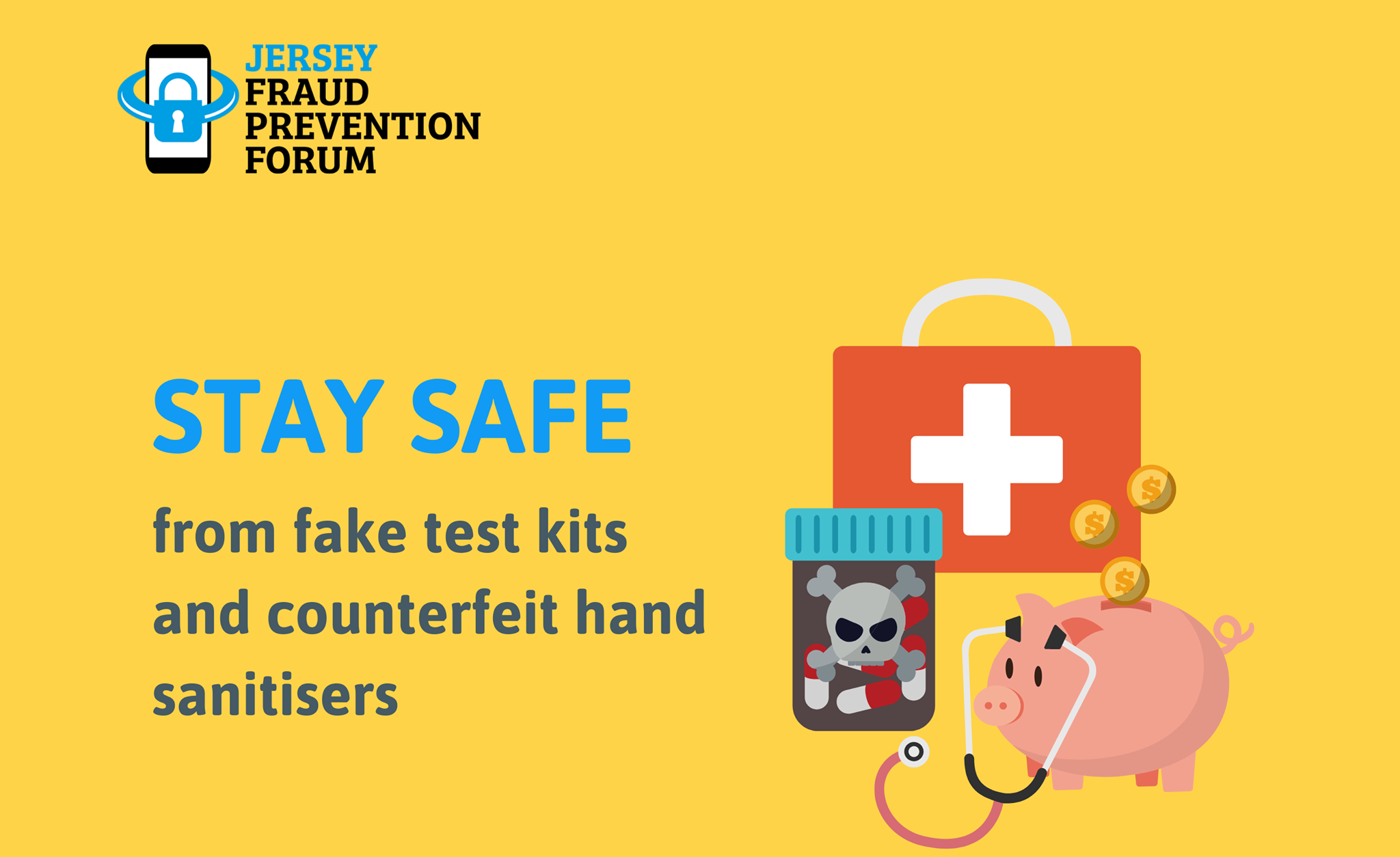Warning following reports of fake COVID-19 testing kits and counterfeit hand sanitisers